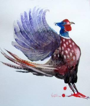 Pheasant, watercolour on Hahnemühle 500 gsm paper, 42 x 52 cm, March 2019