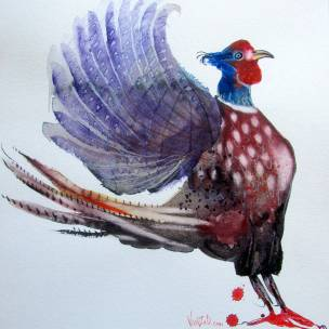 Pheasant, watercolour on Hahnemühle 500 gsm paper, 42 x 52 cm, March 2019